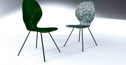Conception chaise du designer Louis Kagan