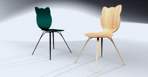 Chairs designs created by Louis Kagan